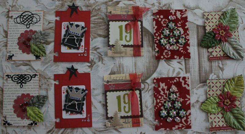 Christmas ATCs 17 to 21