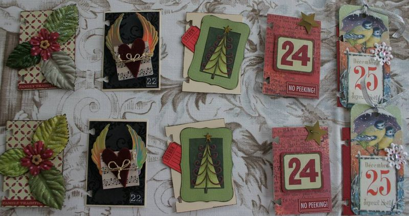 Christmas ATCs 21 to 25